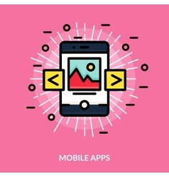 Mobile Application Flat Icon vector