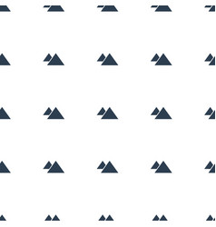 mountain icon pattern seamless white background vector image