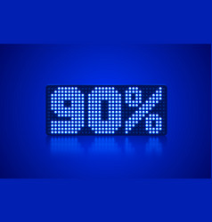 Neon frame 10 off text banner night sign board vector