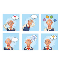 Old men patients alzheimer disease with speech vector