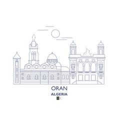 Oran city skyline vector