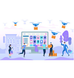 people characters shopping and purchases vector image