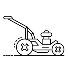 rotary lawn mower icon outline style vector image