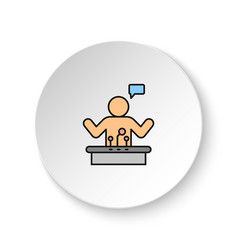 Round button for web icon announcement keynote vector