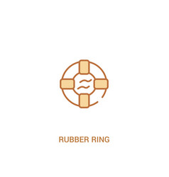 Rubber ring concept 2 colored icon simple line vector
