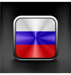 Russia flag national travel icon country symbol vector image