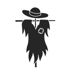 Scarecrow iconblack icon isolated vector