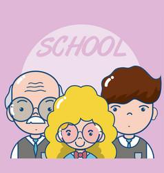 school teachers and students vector image