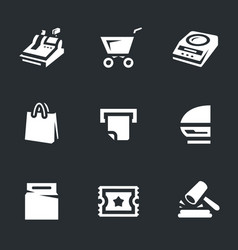 set of shop icons vector image
