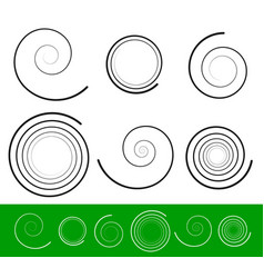 Spiral set with 6 different version with stroke vector