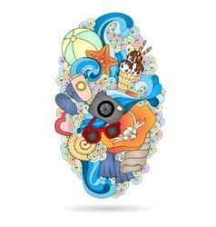 Summer background design element vector image