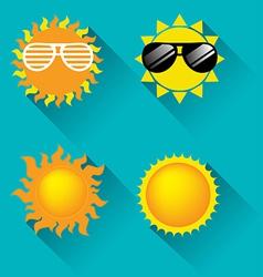 Sun icon for summer concept vector