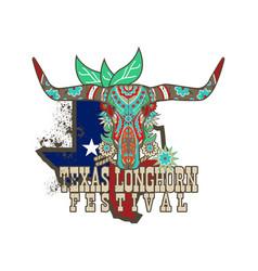 Texas longhorn festival vector