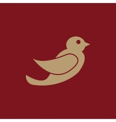 The bird icon nature symbol flat vector