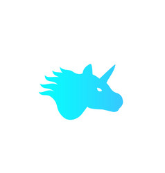 unicorn logo on white mystical animal vector image