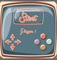 video game retro with control vector image