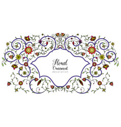 Vintage floral ornament for invitations to vector