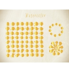Watercolor gold splashes set vector