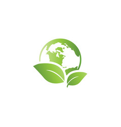 world environment logo icon template vector image