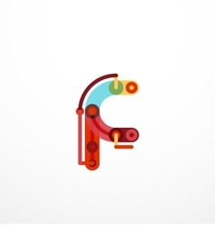 Colorful funny cartoon letter icon vector image