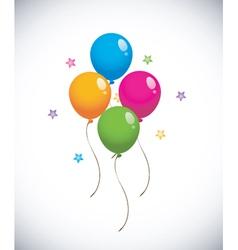 glossy balloons vector image