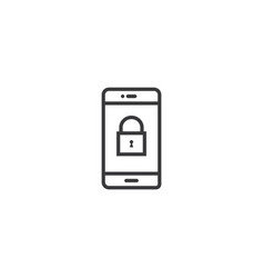 phone lock icon line style vector image