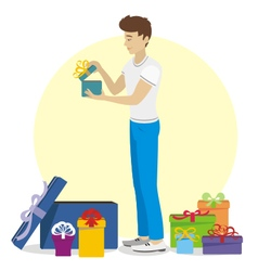 Present for young man vector image vector image