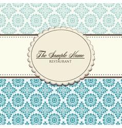 Restaurant floral menu design vector image