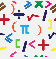 seamless background with mathematical signs vector image vector image