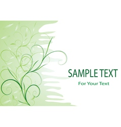 green tenderness vector image vector image