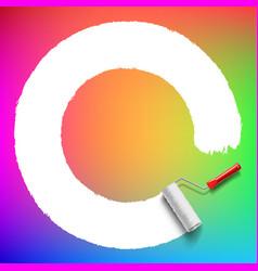 Roller brush background vector