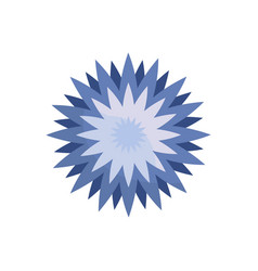 star flower spring icon vector image