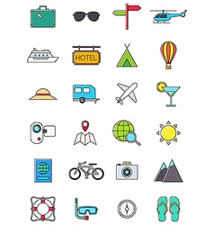 Traveling icons set vector image vector image