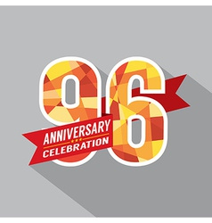96th Years Anniversary Celebration Design vector image vector image