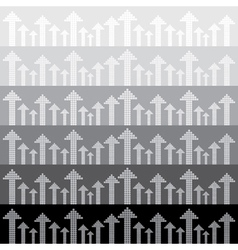 Abstract arrows background Seamless pattern vector image