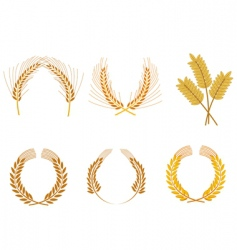 cereal wreaths vector image