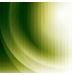 green business background with stripes and waves vector image vector image
