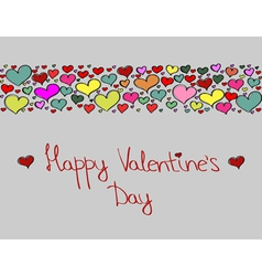 Hand-drawn Valentines Day decorative background vector image vector image