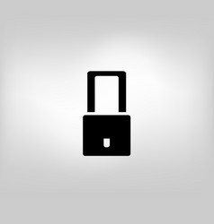 icon to close the lock vector image