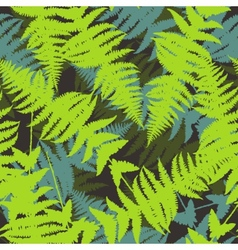Seamless pattern of fern leaves vector image vector image