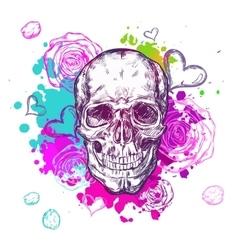 Skull Cow Boho Composition vector image