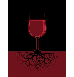 a glass of a red liquor with roots vector image vector image