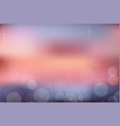 blurred summer background sunset beach with vector image