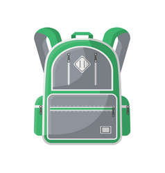 Camp knapsack isolated icon vector
