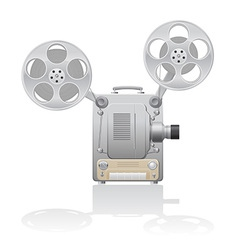 cinema projector 01 vector image