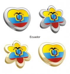 flag of Ecuador vector image vector image