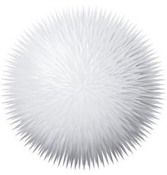 fur pompon vector image