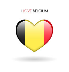 love belgium symbol flag heart glossy icon on a vector image vector image