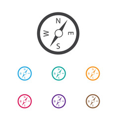 of travel symbol on navigation vector image