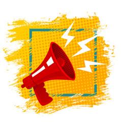 red retro megaphone vector image vector image